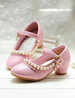 cheap -Girls' Heels Princess Shoes PU Little Kids(4-7ys) Big Kids(7years +) Party & Evening Walking Shoes White Pink Spring Summer