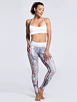 cheap -Women's Basic Casual Comfort Daily Gym Leggings Pants Animal Ankle-Length Patchwork Print Gray