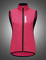 cheap -WOSAWE Women's Reflective Jacket Outdoor Solid Color Waterproof Lightweight Windproof Breathable Jacket Top Fishing Climbing Beach Rose Red / Quick Dry