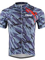 cheap -21Grams Men's Short Sleeve Cycling Jersey Grey Bike Jersey Mountain Bike MTB Road Bike Cycling Breathable Sports Clothing Apparel / Athletic