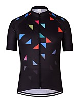 cheap -21Grams Men's Short Sleeve Cycling Jersey Black Bike Jersey Mountain Bike MTB Road Bike Cycling Breathable Sports Clothing Apparel / Athletic