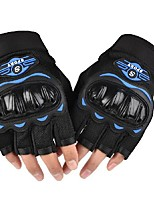 cheap -Bike Gloves / Cycling Gloves Winter Sports Mountaineering Heat Retaining Fingerless Gloves Sports Gloves Black Blue Green for Adults' Outdoor Exercise Cycling / Bike