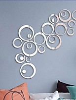 cheap -creative circle dot diy combination acrylic mirror wall sticker tv living room background wall decoration mural