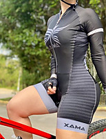 cheap -Men's Women's Long Sleeve Cycling Jersey with Shorts Triathlon Tri Suit Grey Bike Breathable Quick Dry Sports Mountain Bike MTB Road Bike Cycling Clothing Apparel / Stretchy / Athletic