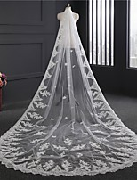 cheap -One-tier Cute Wedding Veil Cathedral Veils with Embroidery 62.99 in (160cm) Lace