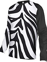 cheap -21Grams Men's Long Sleeve Downhill Jersey Black / White Bike Jersey Top Mountain Bike MTB Road Bike Cycling UV Resistant Quick Dry Sports Clothing Apparel / Athletic