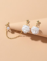 cheap -Women's Stud Earrings Vintage Style Petal Sweet Resin Earrings Jewelry White For Date Festival