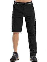 "cheap -mens hiking pants safari quick dry convertible cargo fishing lightweight durable pants zip off 10"" inseam shorts,m885,black,38"