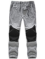 cheap -men's outdoor lightweight pants quick dry hiking mountain pants (light grey,m)