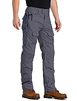 cheap -men's military tactical pants, casual camo bdu cargo pants work trousers with 10 pockets wg3f gray 38