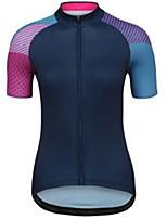 cheap -21Grams Women's Short Sleeve Cycling Jersey Dark Navy Bike Jersey Mountain Bike MTB Road Bike Cycling Breathable Sports Clothing Apparel / Athletic