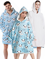 cheap -Inspired by Cosplay Panda Masquerade Hoodie Polyester / Cotton Blend Graphic Prints Printing blanket Hoodie For Men's / Women's