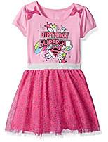 cheap -girls' little supergirl birthday dress, pink, 3t