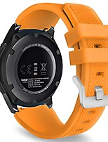 cheap -watch band compatible with galaxy watch 3 45mm/galaxy watch 46mm/gear s3 frontier/classic/huawei watch gt2 pro/gt2e/gt 46mm/gt2 46mm/ticwatch pro 3, 22mm silicone replacement strap, orange