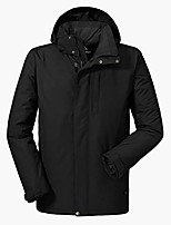 cheap -Men's Women's Hiking 3-in-1 Jackets Winter Outdoor Lightweight Windproof Breathable Quick Dry Winter Jacket Top Fishing Climbing Camping / Hiking / Caving Male black Female black Female purple Male