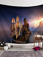 cheap -wall tapestry art decor blanket curtain hanging home bedroom living room decoration boat sunny rock island polyester