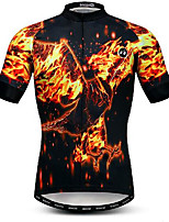 cheap -21Grams Men's Short Sleeve Cycling Jersey Black Bike Jersey Mountain Bike MTB Road Bike Cycling Breathable Quick Dry Sports Clothing Apparel / Athletic