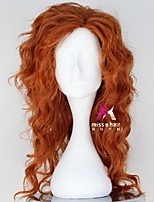cheap -Synthetic Wig Cosplay Wig Zarina Curly Asymmetrical Wig Medium Length Brown Synthetic Hair 22 inch Women's Fashionable Design Cosplay Soft Brown
