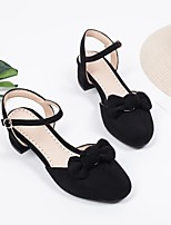 cheap -Girls' Heels Princess Shoes Suede Little Kids(4-7ys) Big Kids(7years +) Party & Evening Walking Shoes White Black Pink Spring Summer