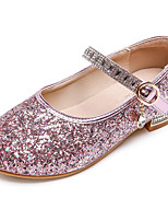 cheap -Girls' Heels Princess Shoes PU Little Kids(4-7ys) Big Kids(7years +) Party & Evening Walking Shoes Pink Champagne Silver Spring Summer