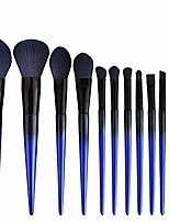 cheap -beauty 12 pcs premium synthetic cosmetic brushes foundation blending blush powder eye shadow make up brushes kit yyfus (color : e blue, size : free)