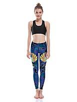 cheap -Women's Basic Comfort Daily Gym Leggings Pants Animal Full Length Patchwork Print Gradient blue
