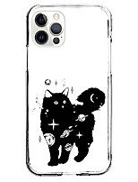 cheap -Black Cat Patterned Case For Apple iPhone 12 iPhone 11 iPhone 12 Pro Max Unique Design Protective Case Shockproof Back Cover TPU