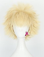 cheap -Synthetic Wig Bakugou Katsuki My Hero Academy Battle For All / Boku no Hero Academia Curly With Bangs Wig Short Blonde Synthetic Hair 12 inch Men's Cool Fluffy Blonde