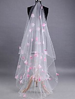 cheap -Two-tier Sweet Style / Floral Wedding Veil Chapel Veils with Petal / Appliques 118.11 in (300cm) POLY / 100% Polyester