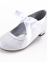 cheap -Girls' Heels Flower Girl Shoes Lace Little Kids(4-7ys) Big Kids(7years +) Party & Evening Bowknot White Champagne Ivory Spring Summer