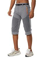 cheap -3/4 shorts men's outdoor trousers summer short cargo trousers men's summer trousers light hiking trousers climbing cycling trousers Bermuda shorts quick-drying trekking trousers three-quarter sports