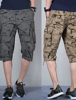 """cheap -Men's Hiking Cargo Shorts Patchwork Summer Outdoor 12"""" Breathable Ventilation Soft Comfortable Cotton Shorts White Army Green Light Grey Khaki Hunting Fishing Climbing 29 30 31 32 33 / Multi-Pocket"""