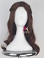 cheap -Synthetic Wig Belle Curly Asymmetrical Wig Long Brown Synthetic Hair 22 inch Women's Comfy Fluffy Brown