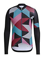 cheap -21Grams Men's Long Sleeve Cycling Jersey Black Bike Jersey Mountain Bike MTB Road Bike Cycling Breathable Sports Clothing Apparel / Athletic
