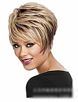 cheap -lolita wig blonde wig fluffy short curly hair natural synthetic hair for women wig cosplay fashion wig (color : blonde)