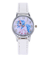 cheap -Women's Quartz Watches Quartz Stylish Fashion Creative Analog White Blushing Pink / One Year / PU Leather