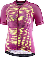 cheap -21Grams Men's Short Sleeve Cycling Jersey Purple Polka Dot Bike Jersey Mountain Bike MTB Road Bike Cycling Breathable Sports Clothing Apparel / Athletic