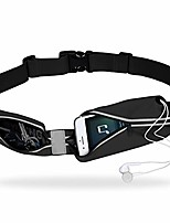 """cheap -sports running bag,  outdoor waterproof reflective waist pack, fitness workout belt fanny pack for hands-free workout, dual pouch phone holder for iphone galaxy, support up to 6.3"""" smar (black)"""