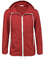 cheap -women's hooded lightweigt waterproof rainwear outdoor slim raincoat(red,xxl)