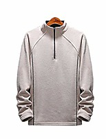 cheap -fashion men's pullover sweatshirts long sleeves 1/4 zip coats oversized (l-10xl)-khaki_6xl