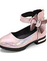 cheap -Girls' Heels Princess Shoes PU Little Kids(4-7ys) Big Kids(7years +) Party & Evening Walking Shoes Pink Gray Spring Summer