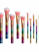 cheap -makeup brush 10pcs makeup brush cosmetic powder foundation eyeshadow lip make up brushes set. by  (color : 10pcs colorful, size : one size)
