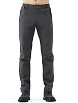 cheap -Men's Hiking Pants Trousers Solid Color Winter Outdoor Standard Fit Waterproof Fleece Lining Breathable Warm Bottoms Dark Grey Black Army Green Dark Navy Fishing Climbing Camping / Hiking / Caving S