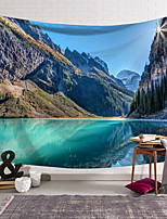 cheap -wall tapestry art decor blanket curtain hanging home bedroom living room decoration landscape mountain lake polyester