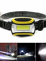 cheap -led outdoor sports headlamp headlamp, very bright waterproof lightweight for running / camping / cycling / fishing / included (yellow)