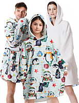 cheap -oversized sherpa wearable penguin blanket hoodie with pocket for unisex kids cosplay one size fits all