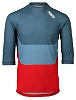 cheap -21Grams Men's 3/4 Length Sleeve Downhill Jersey Blue Patchwork Bike Jersey Top Mountain Bike MTB Road Bike Cycling UV Resistant Quick Dry Sports Clothing Apparel / Athletic
