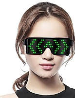 cheap -luminous glasses led blinds glasses flash dynamic picture atmosphere cheering props creative holiday supplies
