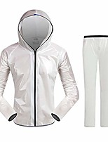 cheap -Men's Women's Waterproof Hiking Jacket Rain Jacket Outdoor Lightweight Windproof Breathable Quick Dry Raincoat Top Fishing Climbing Camping / Hiking / Caving Blue suit Black suit White pants White