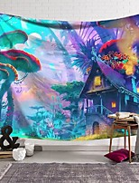 cheap -wall tapestry art decor blanket curtain hanging home bedroom living room decoration magic world mushroom fort polyester